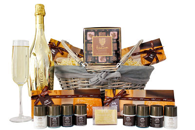 Gift Hampers and Gift Baskets. Our hamper ranges include Baby Gifts, Cheese Hampers, Chocolate Hampers, Pamper Hampers, Champagne and Prosecco Hampers through to Picnic Hampers, Wine and Spirits Hampers. We stock many award winning products too, a sure sign of our quality. We offer a full UK delivery service so don't let distance put you off and show someone that you're thinking of them with a luxury gift hamper from Handmade Hamper. With a complimentary gift message and hand tied ribbon with every gift hamper we give you that personal touch.