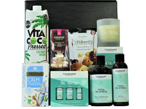 Enhance your mind, body & wellbeing with the Relax and Unwind Pamper Set. Filled with Tisserand Aromatherapy De Stress products, to accompany Twinings calming tea, Award Winning coconut water, luxury Belgian hot chocolate and Mr Filbert's cherry berry fruit and nut snack, allowing you to create a totally relaxation experience at home.