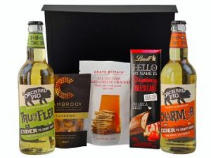 Cider Gift Set Choose the cider and snacks beautifully presented with a gift message and UK delivery.