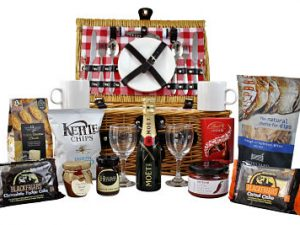 Picnic Food Hamper for two. Completely filled with food and drinks for a fun filled picnic, all ready to just take with you.