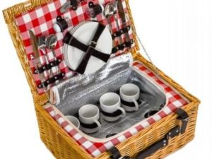 2 person or 4 person empty hamper baskets, just fill it up and enjoy your picnic.