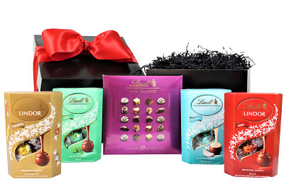 A Selection of the finest Lindt Lindor Chocolates making the perfect gift for any chocolate lover.