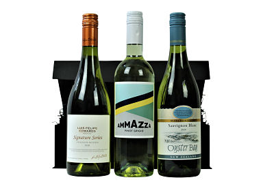 The superb threesome within the White Wine Trio Gift Box will prove a hit for anyone who enjoys white wine. We have selected our most popular Award Winning whites and presented them within a stylish black lidded box. Three different wines, all classics in their own right and with tastes from around the world we have something to delight everyone's taste buds.