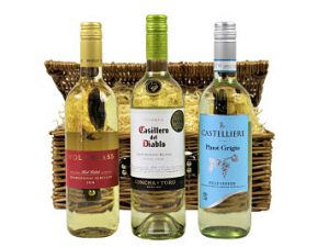 White Wine Gift Hamper Basket