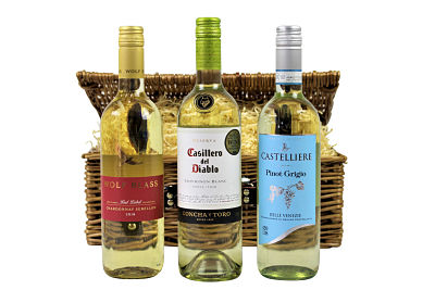 White Wine Gift Hamper Basket