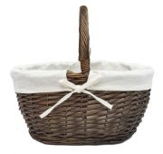 brown lined basket