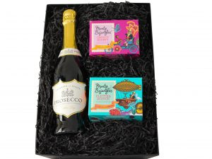 Prosecco and chocolate gift hamper. Choose from out range of prosecco to accompany award winning chocolates.
