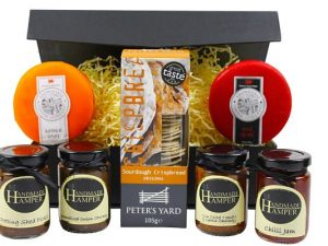Cheese Gift Hamper. Select 2 cheeses to add to our award winning crispbread and chutney selection.