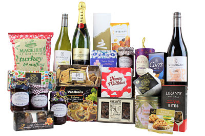 The White Christmas Gift Hamper is a luxury treat for family and friends to indulge with over the Christmas festivities. Laden with tasty delights from Champagne, Award Winning wines, luxury treats, decadent chocolates, savoury surprises and many more other superb sumptuous delights  making for a magnificent Yuletide celebration.