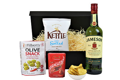 Make your own bespoke gift with the Whisky and Nibbles Gift Set. Choose the perfect Whisky to accompany three delicious nibbles of your choice. Definitely a gift to be appreciated.