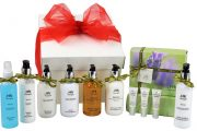Pamper Hamper which includes a selection of bath and facial beauty treatments.