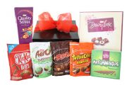 Nestle Chocolate Gift Box which includes Nestle Quality Street 265g Nestle Diary Box 180g Nestle Cool Mint Matchmakers 130g Nestle KitKat Bites 104g Nestle Mint Areo Bubbles 113g Nestle Rolo 126g Nestle Toffee Crisp Bitesize 120g