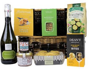 Filled up and ready to go The Richmond Picnic Basket is the ideal gift for a delightful picnic in the sunshine. Add your favourite bottle to our selection of gourmet mouthwatering treats and enjoy an Award Winning feast.
