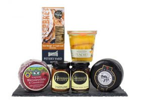 Cheese and Fruit gift box. Choose your cheese, fruit and chutney from many award winners.