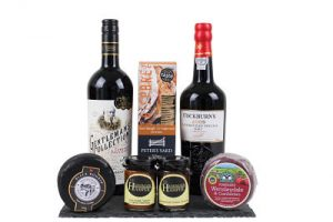 Cheese, Port & wine gift hamper selection