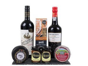 Cheese, Port and Wine Gift Box selection