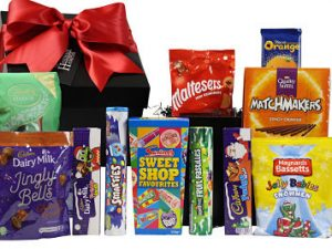 The Christmas Sweets Gift Box is filled full of our favourite Christmas chocolates and sweets. Cadbury, Rowntree, Swizzels and Quality Street to name but a few. A perfect way to send your Christmas wishes this holiday time.