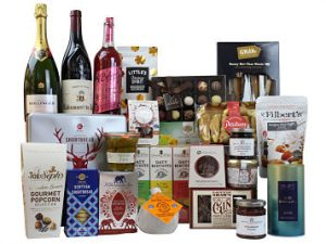 Celebrate the Yuletide festivities with fabulous luxury Christmas treats inside The Indulgence Christmas Gift Hamper. Laden with sumptuous delights to spoil you over the holiday period. Award Winning Wine and prestigious Bollinger Champagne to accompany the sweet and savoury Award Winning treats.  Something for everyone to enjoy and a perfect gift to be shared with family and friends!