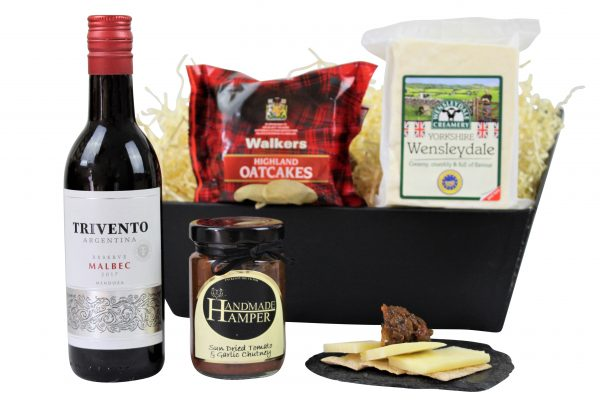 Choose from Award Winning Cheese, Chutney and a bottle of your choice to make a bespoke Cheese & Wine gift tray