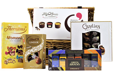 A gift that is perfect to share with family and friends.  The Chocolate Gift Hamper is an abundance of Award Winning chocolate that will indulgence you in a taste sensation.   From master chocolatiers Lindt, Green & Blacks, Thorntons and more.  This special gift features an irresistible array of textures and flavours to please every palate, the ultimate in beautifully crafted chocolate indulgence.