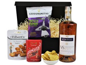 Make your own bespoke gift with the Brandy and Nibbles Gift Box. Choose the perfect brandy to accompany three delicious nibbles of your choice. Definitely a gift to be appreciated.