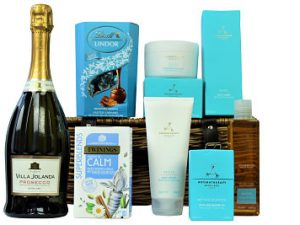 Using only the finest essential oils the Aromatherapy Associates spa products within the Indulgent Pampering Basket take your senses on a transformative journey, reviving and enhancing your wellbeing. Add a box of Twinings Calming tea with its warming and comforting flavour and Lindt's Lindor chocolate truffles, combining expertise and the finest ingredients within this sweet treat. To make a more luxurious gift add a bottle of sparkling fizz to create a gift worthy of any occasion.