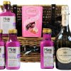 The Pretty In Pink Pamper Baskets beholds a tropical delight. Rich in oils to revive and hydrate the body and hair the Maui range of products will send your senses soring. Delight in the Lindt Strawberry and Cream Truffles and indulge in a blissful moment all to yourself. The sparkling bubbles inside the La Gioiosa Prosecco Superiore Millesimato are elegantly fine and need to be savoured. Presented in a willow gift basket, this is a gift to admire.
