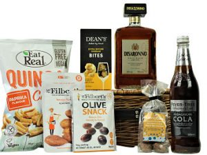 The Disaronno Gift Hamper Basket is filled full of indulgent treats to accompany a bottle of Disaronno Amaretto and Fever Tree mixer of your choice. Presented in a willow gift hamper this will be a truly luxurious gift to savour and enjoy.