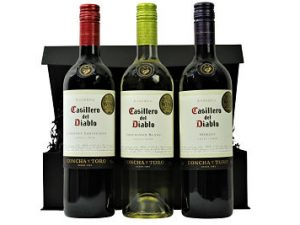 Select your three prized Casillero del Diablo bottles to create a personalised gift within the Casillero del Diablo Trio Wine Box. so the legend says, more than 100 years ago, Don Melchor de Concha y Toro set aside some of his best wines. To keep strangers away, he spread the rumor that the Devil lived in his cellar. Hence the Name -Casillero del Diablo.